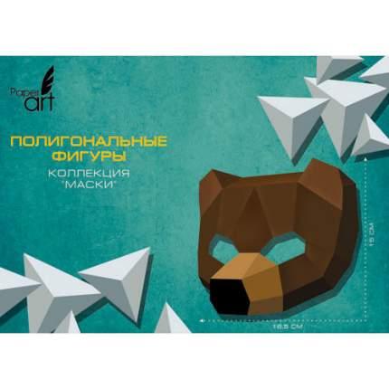 Полигональная фигура Paper Art Маска медведя, ИПМ07