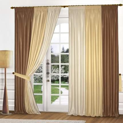 Комплект штор Elegante Annona карамель 240x260 см