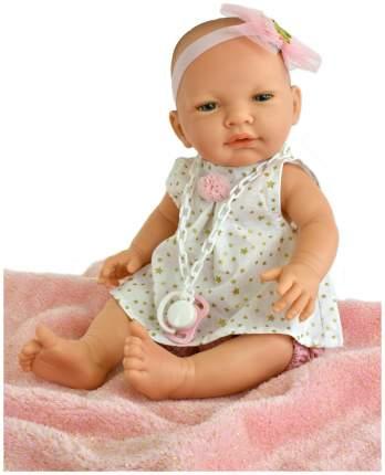 Пупс Nines d'Onil Новорожденная малышка, с розовым одеялом