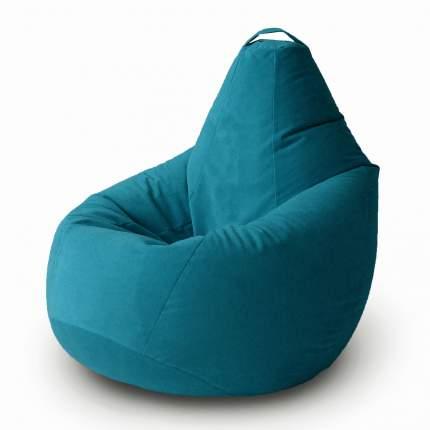Кресло-мешок MyPuff Груша Комфорт Велюр XL, бирюза