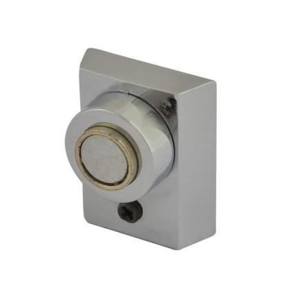 Ограничитель двери НОРА-М 801 магнитный, напольный, матовый никель