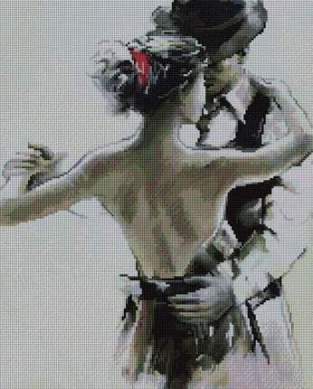 "Алмазная вышивка Painting Diamond ""Танец на двоих"", 40x50 см"