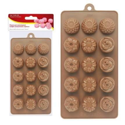 """Форма для шоколадных конфет силиконовая """"Цветы"""""""