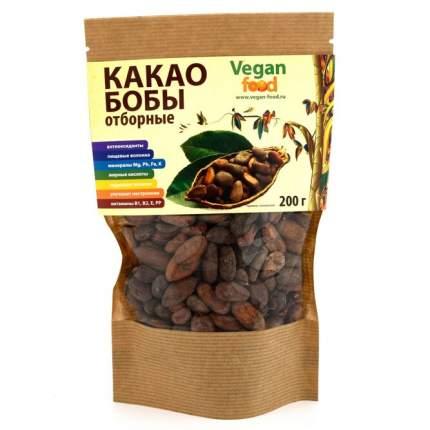 Какао бобы Vegan Food сырые отборные 200 г