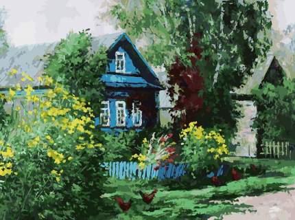 Картина по номерам Белоснежка Домик в деревне, 30x40