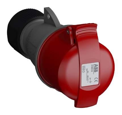 "Розетка кабельная АВВ ""Easy&Safe 316EC6"", 3P+E, 16А, IP44 (красная)"
