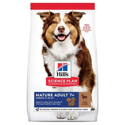 Сухой корм для собак Hill's Science Plan Mature Adult 7+ Medium, ягненок и рис, 2,5кг