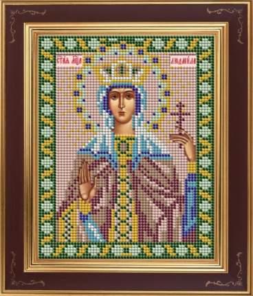 Вышивка бисером Galla Collection М254 Св.Людмила 12х15 см