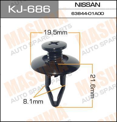 Клипса автомобильная Masuma KJ686