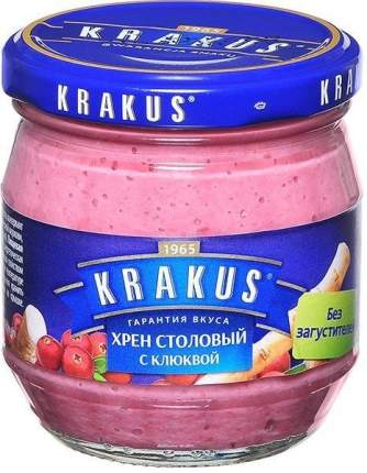 Хрен Krakus столовый с клюквой 180 г