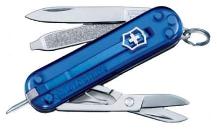 Мультитул-брелок Victorinox Signature 0.6225.T2 58 мм синий, 7 функций