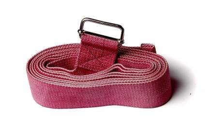 Ремень для йоги RamaYoga Де Люкс цветной, красный