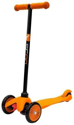 Самокат трехколесный Y-Scoo mini A-5 Simple orange с цветными колесами
