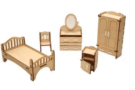 Мебель для кукольного домика ХэппиДом Спальня из дерева