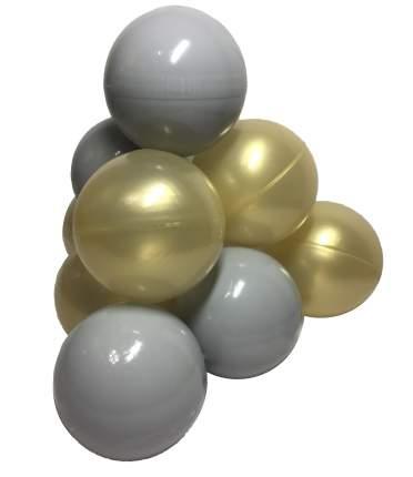 Комплект шариков Премиум (50шт: золот и серый) для сухого бассейна