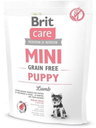 Сухой корм для щенков Brit Care Mini Grain Free Puppy, для мелких пород, ягненок, 0,4кг