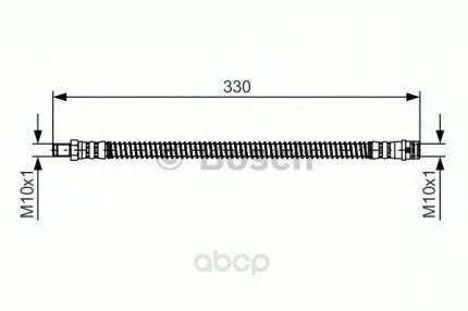 Шланг тормозной Bosch 1987481394