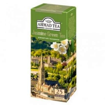 Чай зеленый Ahmad Tea в пакетиках для чашки с жасмином 25 пакетиков