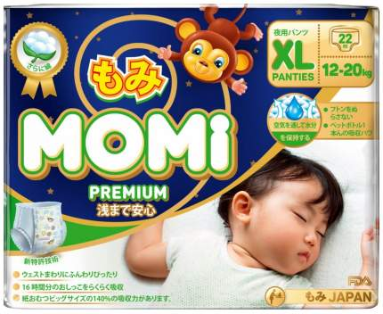 Подгузники-трусики Momi Premium Night Xl ( 12-20 Кг), 22 шт.