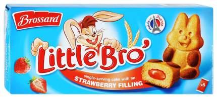 Пирожное Brossard Little Bro с клубничной начинкой 140 г