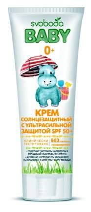 Крем солнцезащитный для младенца SVOBODA Baby с ультрасильной защитой SPF 50+ 80 мл