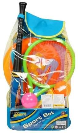 Спортивный игровой набор YG Sport YG17W с бадминтоном и битой в рюкзаке