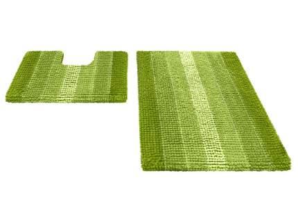 Набор ковриков для ванной MULTIMAKARON зеленый, SHAHINTEX