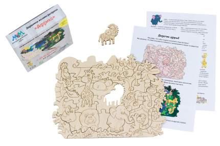 Деревянная мозаика-раскраска МУМ африка