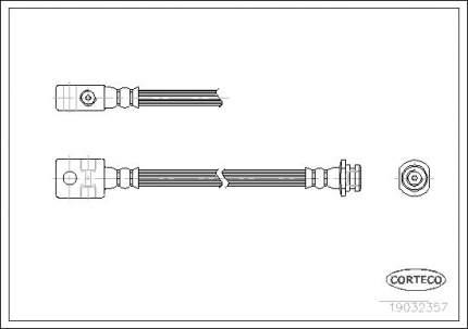 Шланг тормозной CORTECO 19032357
