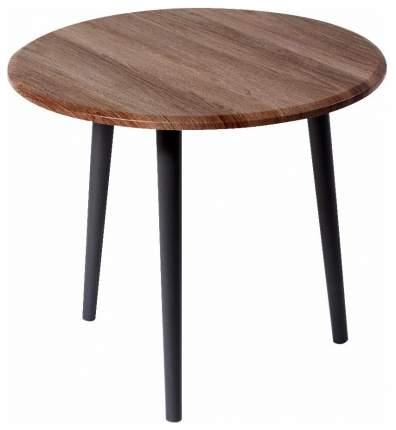 Журнальный столик Мебелик Манхэттен 573 55х55х48 см, грецкий орех/серый