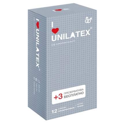 Презервативы Unilatex Dotted на силиконовой основе