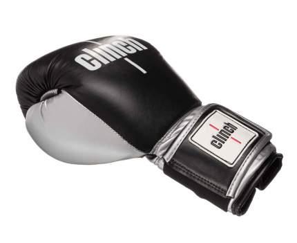Боксерские перчатки Clinch Prime черно-серебристые 12 унций