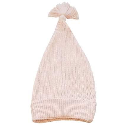 Шапка детская Папитто вязаная с отворотом Розовый 73-9005 р.36-40