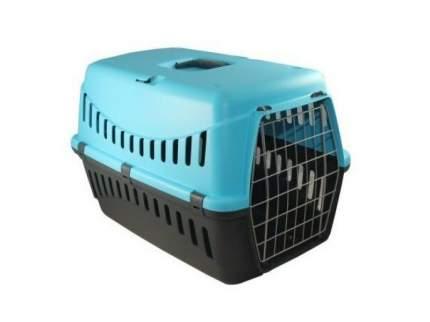 Переноска для кошек и собак MP-Bergamo 38x58x38см голубой, черный