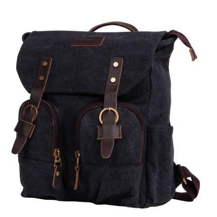 Рюкзак кожаный Polar П3788 12 л черный