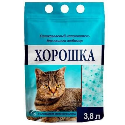 Наполнитель для кошачьего туалета ХОРОШКА силикагелевый с ароматом морского бриза 3,8л