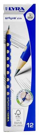 Карандаши чернографитные Lyra Groove Slim Graphite L1760100 HB