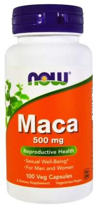 Бустер тестостерона NOW Maca 500 мг 100 капсул