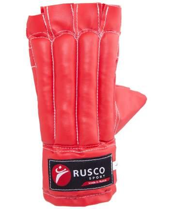 Перчатки снарядные Rusco Sport, шингарды, кожзам, красно-сине-черный (S)
