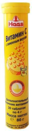Напиток витаминизированный Haas витамин С шипучие таблетки 80 г