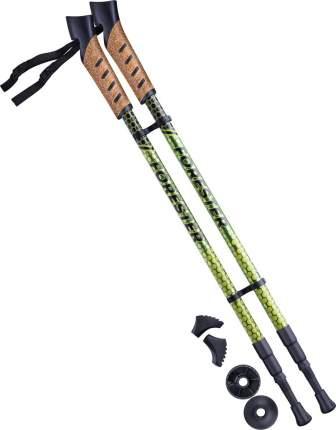 Палки для скандинавской ходьбы Berger Forester, 67-135 см, 3-секционные, болотный/желтый