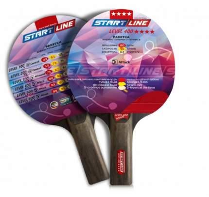 Ракетка для настольного тенниса Start Line 12503 Level 400, черно-красная