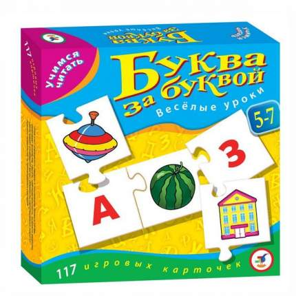 Настольная обучающая игра Дрофа-Медиа Учимся читать - Буква за буквой. Веселые уроки