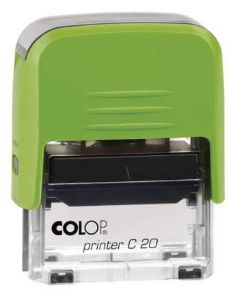 Оснастка для печати Colop C20 Compact Transparent. Цвет корпуса: киви.