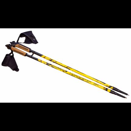 Палки для скандинавской ходьбы NordicStep 3K, желтый, 100-135 см