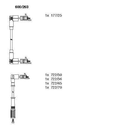 Комплект проводов зажигания BREMI 600/263