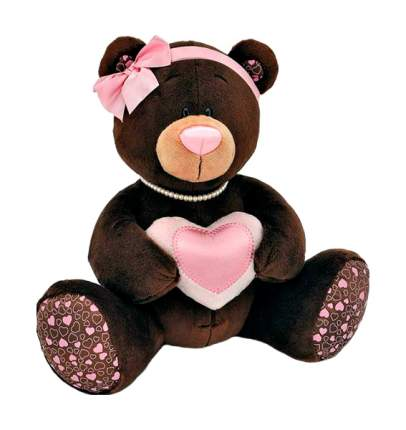 Мягкая игрушка Orange Toys Choco&milk Медведица с сердечком M003/20