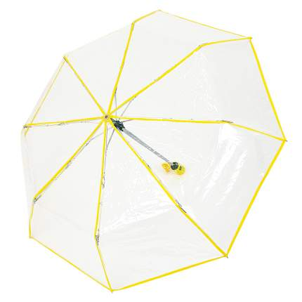 Зонт складной прозрачный (желтый)