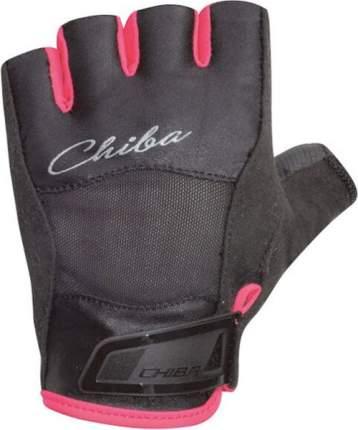 Перчатки для фитнеса Chiba Lady Line Diamond, красные/черные, XS