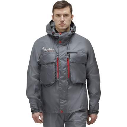 Куртка для рыбалки Nova Tour Fisherman Риф V2, темно-серая, 4XL INT, 188 см